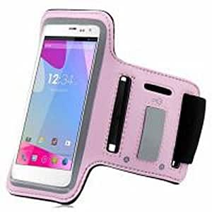 Baby Light Pink ArmBand Workout Case Cover For BLU Life View L110a with Free Pouch