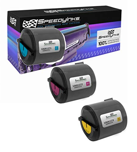 (Speedy Inks Compatible Toner Cartridge Replacement for Xerox Phaser 6110 (1 Cyan, 1 Magenta, 1 Yellow, 3-Pack))