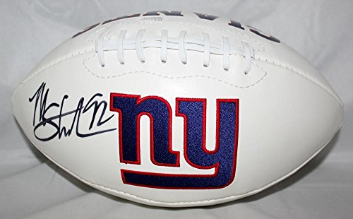 (Michael Strahan Autographed New York Giants Logo Football- JSA W Authenticated)