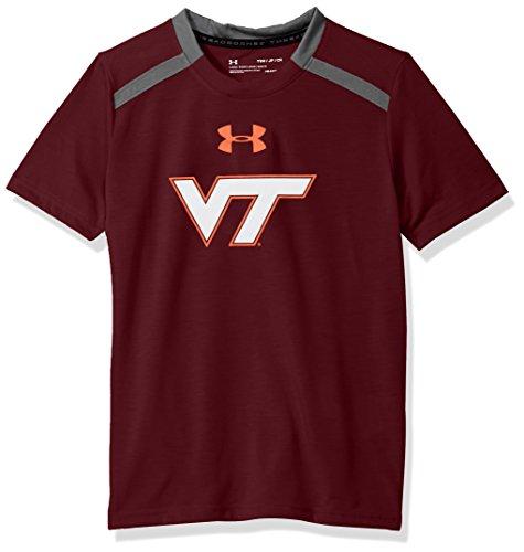 Under Armour NCAA Virginia Tech Hokies Teen-Boys NCAA Boys Short sleeve Vented Tee, Medium, ()