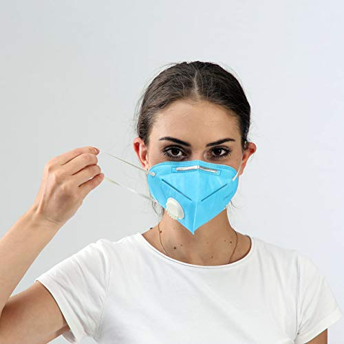 Anti Pollution Mask Washable Dust Mask Air Filter Mask for Pollution Blue Colour (Unisex Size,Black) (10) (1)