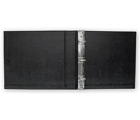 Check Binder for 3-On-A-Page Voucher Checks with Side-Tear (Black) Check Cover ~Hold 250 Checks~