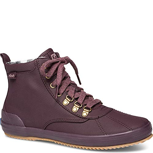 Keds Women's Keds Scout Boot Matte Twill Ankle Boot, Burgundy, 8 M US