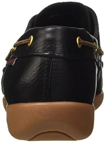 Sebago Gary Jobson Leather Tumbled, Mocasines Para Hombre Negro