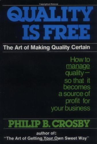 quality is free the art of making quality certain pdf