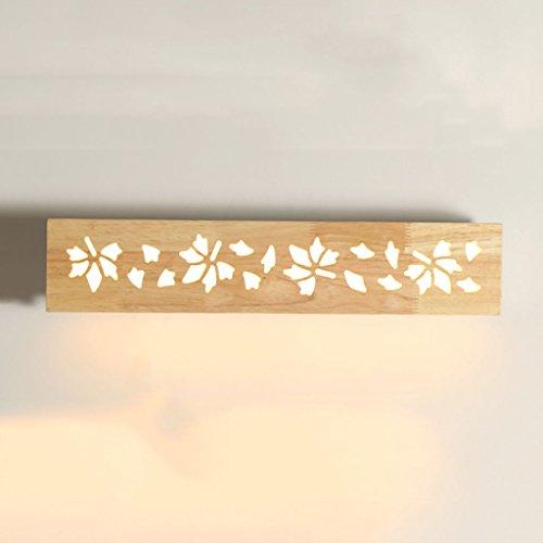 YYF Spiegelfrontlicht Einfache Moderne Holz Spiegel LED Leuchtet Wohnzimmer Wand Lampe Schlafzimmer Nachttisch Bad Fhrte Beleuchtung
