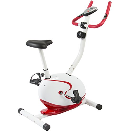 Best Choice Products Red Magnetic Upright Exercise Bike Fitness Cycling Bicycle Cardio Workout Best Choice Products