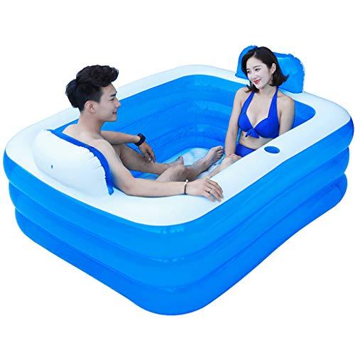 Bañera de Gran tamaño para Adultos Bañera para Adultos Pareja Bañera Inflable Plegable de Barril de baño para niños...