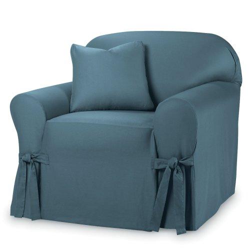 Sure Fit Cotton Duck - Chair Slipcover  - Bluestone (SF33053)