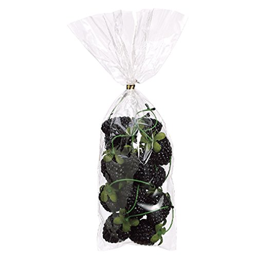 5''Hx2''W Artificial Bagged Blackberry -Black (pack of 12) by SilksAreForever