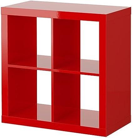 IKEA EXPEDIT - Estantería de alto brillo de color rojo ...