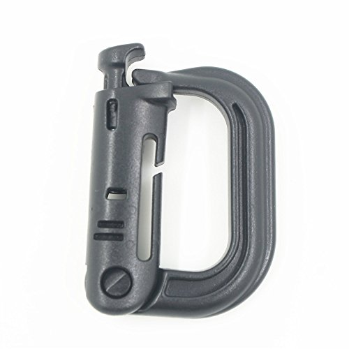 Ten Point Gear 9 Pack Grimloc Super Strong Molded Polymer Clip Carabiner (Multiple Color Options)