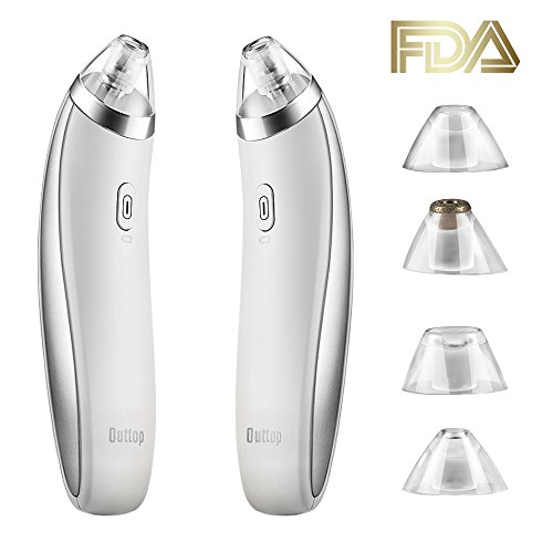 Pore Vacuum, OUTTOP Electric Blackhead Remover, Rechargeable Acne Comedone Extractor Tool, Skin Facial Pore Cleaner with 4 Probes and 4 Adjustable Suction Levels For Sale