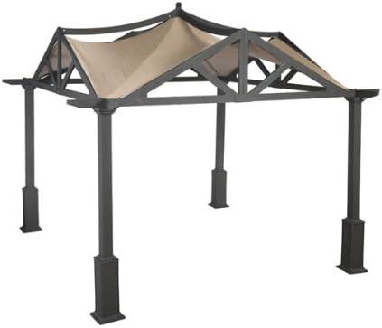 Amazon Com Garden Winds Replacement Canopy For Garden Treasures Pergola Gazebo Standard 350 Beige Garden Outdoor