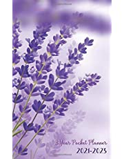 3 Year Pocket Planner 2021-2023: Flower Lavender Cover | 3 Year Monthly Planner 5x8 Small Size | Three Year Appointment Planner | 36 Months Calendar | Home Office Planning Organizer Agenda Schedule