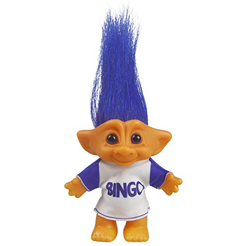 Vintage Troll Dolls, Lucky Doll Chromatic Adorable for Collections, School Project, Arts and Crafts, Party Favors - 7.5 Tall(Include The Length of Hair) (Blue)