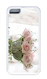Case For Iphone 6 4.7Inch Cover Case, Personalized Custom Hard PC White Iphone 6 4.7Inch/Pink Rose Cover