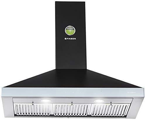 Faber 90 cm 1095 m³/hr box-type Kitchen Chimney (Hood Topaz Smart 3D T2S2 BK TC LTW 90, Baffle Filter, Touch Control, Black)