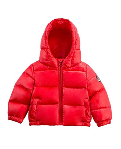 Kids Boys Girls Hooded Coat Winter Warm Down Puffer Jacket Light Weight Red 110