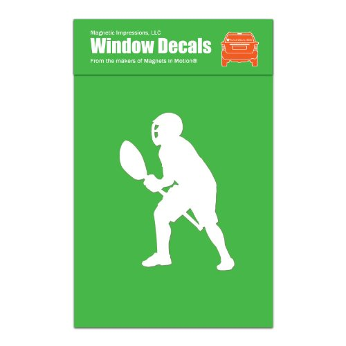 Magnetic Impressions Lacrosse Goalie Male Car Window Decal White