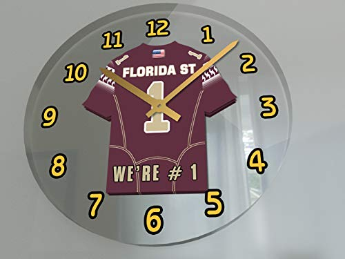 College Football USA - We're Number ONE American Football Wall Clocks - Support Your Team !!! (Florida State Seminoles)