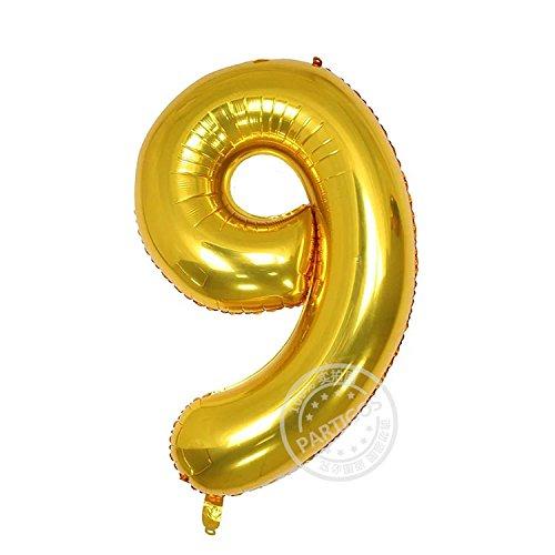Partigos 40Inch Number Aluminum Film Balloon Celebration Party Multiple Occasions Home Decoration Supplies Digital Helium Globos  9