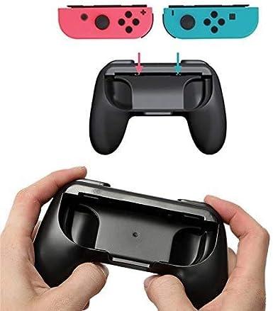 Pack de 2 empuñaduras para Nintendo Switch Joy-Con, empuñaduras resistentes al desgaste del kit de manijas compatibles con Nintendo Switch Joy-Cons (negro): Amazon.es: Videojuegos