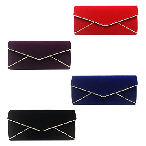 Clutch Handbag Evening Strap JAGENIE Black Blue Shoulder Bridal Party Wedding Women Bag Prom Chain qUxAW5Xz