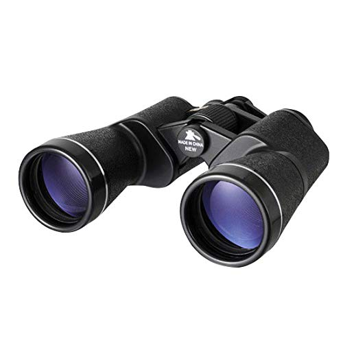 NASHICA Sprit 20 X 50 ZCF, 20 Times Binoculars, Outdoor Travel Binoculars, Water Resistant, Fully Coated Lense, 7.4'' x 6.8'' x 2.3'', Black by NASHICA (Image #1)