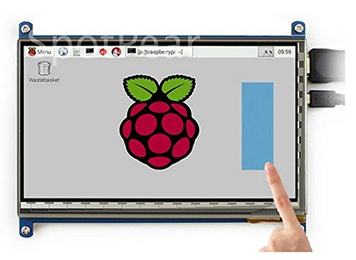 LANDZO 7 Inch Touch Screen for Raspberry Pi 3 Model B and Pi 2 (LANDZO 7 Inch Touch Display)