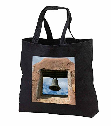 Price comparison product image Danita Delimont - Taos - Looking up at a church bell of an adobe building, Taos, New Mexico - Tote Bags - Black Tote Bag 14w x 14h x 3d (tb_251234_1)