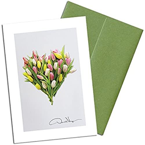 Donald Verger Photography Fine Art Note Cards. Elegant Tulip Heart. 3.5x5. Set of 8 Best Quality, Blank Folded Sales