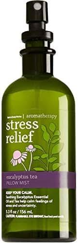 Bath & Body Works Aromatherapy Stress Relief - Eucalyptus + Tea Pillow Mist, 5.3 Fl Oz , with Natural Essential Oils