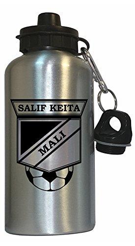 Salif Keita (Mali) Soccer Water Bottle Silver (Best Of Salif Keita)