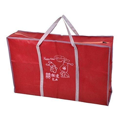 eDealMax non-tissé ménages vêtements Quilt Zippered Sac de stockage Porte Rouge