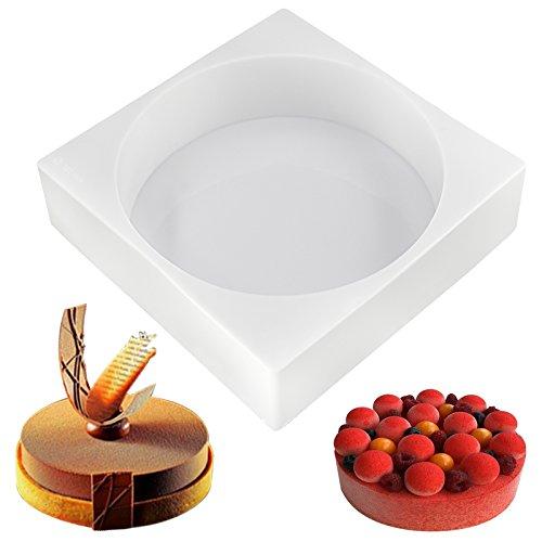 Funshowcase Round Disc Silicone Mold Tray Shape Size 6.3x6.3x1.9inch (Silicone Brioche Mold)