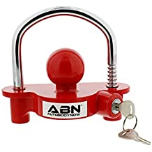 "ABN Trailer Hitch Lock Theft Deterrent – Universal Coupler Lock – Adjustable Fit for 1-7/8"" to 2-7/8"" Inch Couplers"