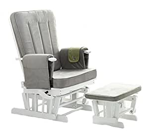 Obaby Deluxe - Silla reclinable y taburete, color blanco ...