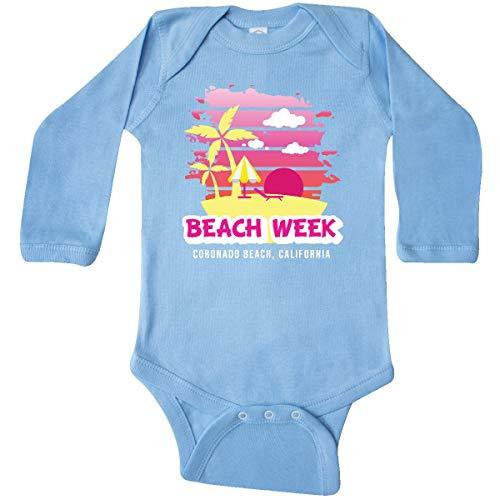 (inktastic - Beach Week Coronado Long Sleeve Creeper 12 Months Light Blue 35cc3)