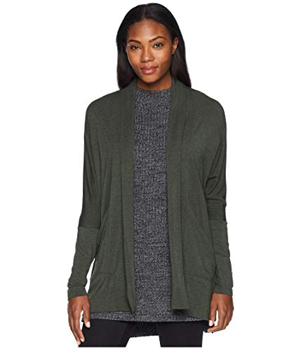 (prAna Foundation wrap Long Sleeve Tops, Forest Green Heather, Large)