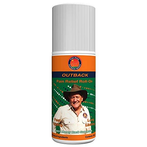 Outback All-Natural Pain Relief - 50mL Roll-On (1.69 Fl Oz) - Topical Oil