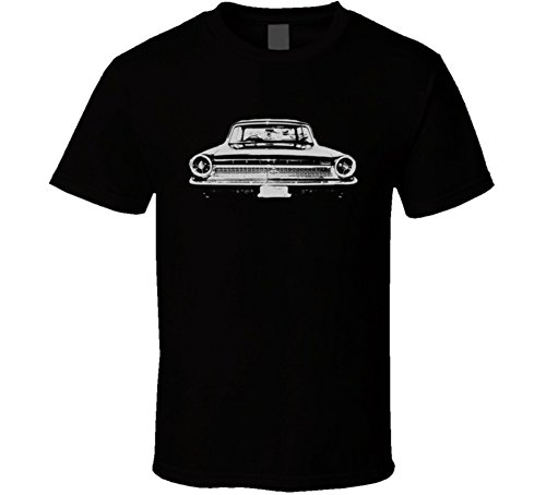 1963 Ford Galaxie Faded Look Rear View White Graphic Dark T Shirt 2XL Black ()