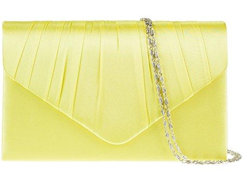 fi9® - Cartera de mano para mujer Varios Colores multicolor Varios Colores - amarillo