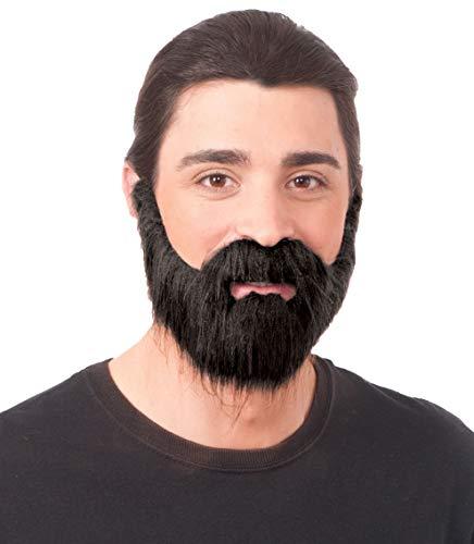 Forum Novelties Full Beard with Mustache, One