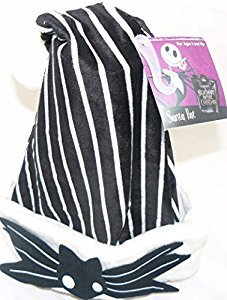 Disney Nightmare Before Christmas Jack Skellington Santa (Black Santa Hat)