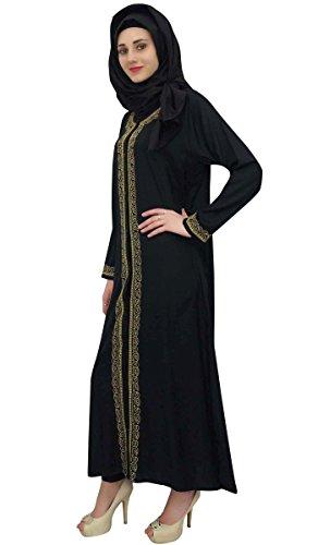 Abaya Bimba Women's Clothing Full Rayon Sleeves Black Casual Islamic Wear vvfYq4w6
