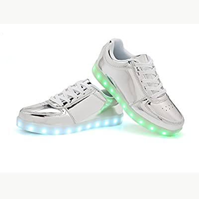 WAWEN Adult LED Shoes 11 Colors Flashing Rechargeable Light Up Sneakers for Mens Womens