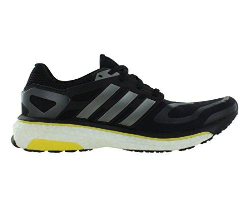 adidas Performance Herren Energy Boost m Laufschuh Kern Black / Iron Metallic / Vivid Yellow