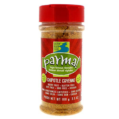 Parma! Vegan Parmesan - Chipotle Cayenne, Dairy-Free and Gluten-Free Vegan Cheese (3.5 ounces)