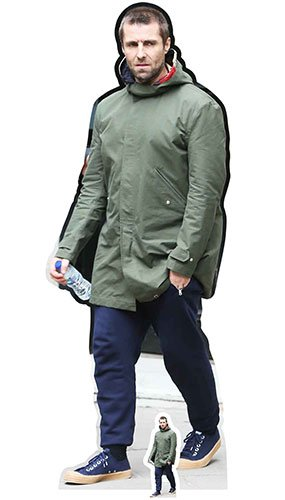 STAR CUTOUTS Life Size Cut Out with Mini Version of Liam Gallagher Cardboard 178 x 64 x 178 cm Multi-Colour